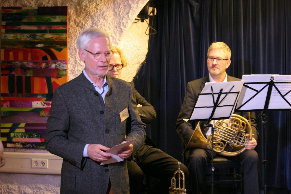 Foto der Teilnehmern mit Andreas Prager